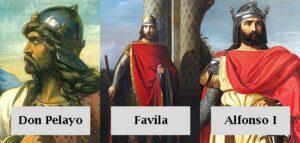 Don Pelayo, Favila y Alfonso I