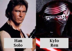 Han solo y Kylo ren star wars