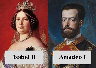 Isabel II y Amadeo I