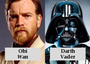 Obi wan y Darth Vader star wars