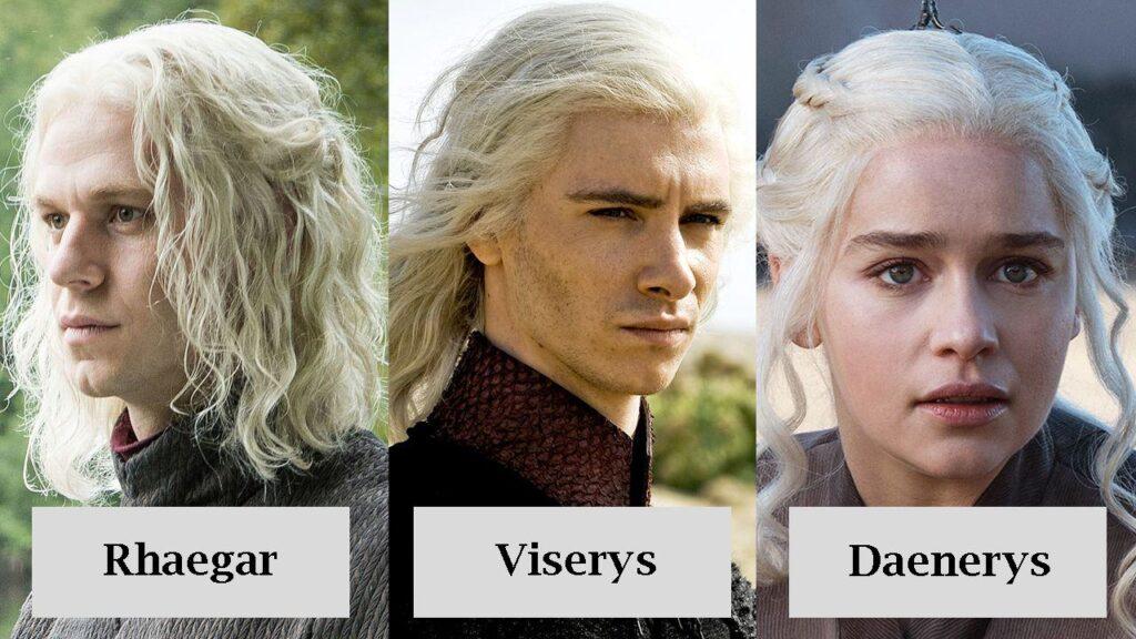 Rhaegar, viserys y Daenerys targaryen