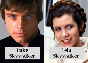 luke y leila skywalker star wars