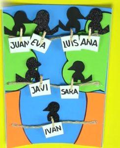 árbol genealógico creativo