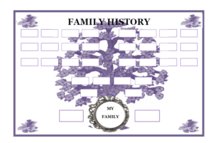 Plantillas para imprimir y rellenar - Árbol genealógico