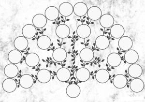plantilla árbol genealógico para rellenar