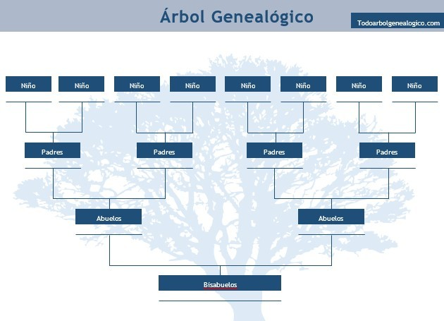 plantilla arbol familiar word